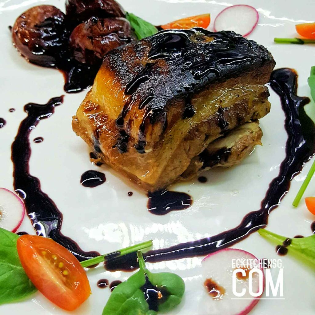 Slow Roast Pork Belly with Balsamic-Honey Figs