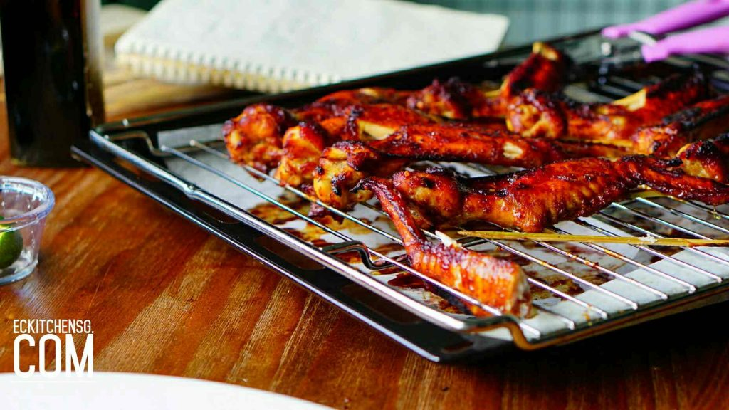 Singapore Hawker Style BBQ Chicken Wings